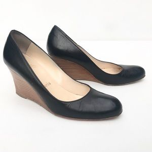 CHRISTIAN LOUBOUTIN wedge 37 1/2  7 7.5 shoe black